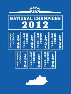 university of kentucky national champions 2012 mens