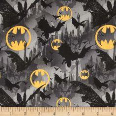 Batman Bats and Symbols Black/Yellow