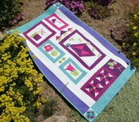 Charm & Whimsy by Kim Hanson in Best Fat Quarter Quilts 2014.