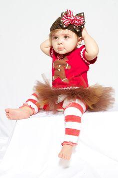 gingerbread girl!!  with tutu and leggings!