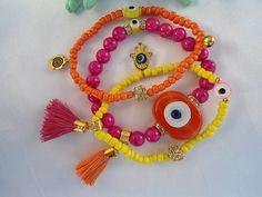 SALE GYPSYS LUCKY Bracelet Evil Eye Jewelry Middle by Nezihe1, $25.00