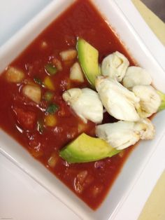 Judy's Gazpacho: Judy and Marvin Lieberman own Great Barrington Bagels in Massachusetts; Judy's gazpacho, hands down, is the best I've ever tasted. I'm not alone in my enthusiasm. People come from all around the Berkshire community to buy her gazpacho by the gallon!