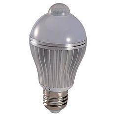 Mudder® E27 7W PIR Infrared Motion Detection Sensor & Light Sensor LED High Performance Energy Saving White Warm White Light Bulb