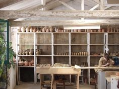 old fashion looking pottery workshop