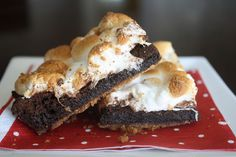 brownie recipes, sweet, bake, bar, heather christo, smore browni, chocolate brownies, treat, dessert