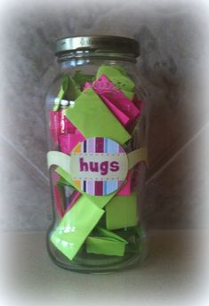 Hugs Jar: Nurturing Sibling Love. (when their love sounds a little more like yelling -here's a fun little way to refocus the love!)