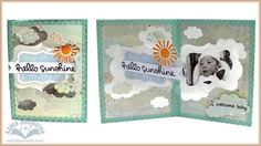 Karen Burniston using the Pop it Ups Katie Label Pivot Card with clouds from the All Seasons Tree dies by Karen Burniston for Elizabeth Craft Designs - Hello Sunshine front