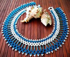 Free pattern for beaded necklace Capri with bugles