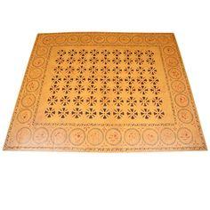 Historically Stenciled Canvas Floor Cloth