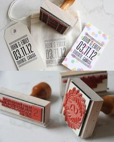 Custom stamps from The Penny Paper Co.