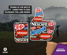 Nestlé - the maker of brands  Kit Kat, Nescafe and Dreyer's Ice cream - had committed to Zero Tolerance for #landgrabs! By adopting this policy, the food giant will be able to assure its customers that its suppliers are not driving communities, farmers, or indigenous peoples off their land. http://oxf.am/254 #BehindtheBrands