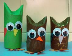 our version of toilet paper roll owls. <3