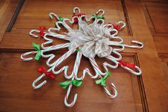 candy cane wreath I've made