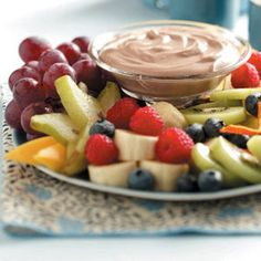 Chocolate Fruit Dip Recipe from Taste of Home -- shared by Abigail Sims of Terrell, Texas #healthy #quick