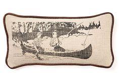 Fishers  Linen/Cotton Pillow