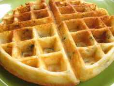 """Spinach Waffles: """"Who would of thought to put spinach in a waffle ... but it works really well. It's a great way to start the morning!"""" —weekend cooker"""