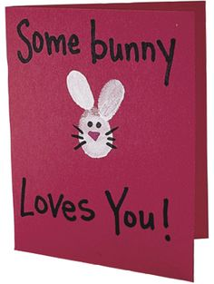 February 11, 2014. Some Bunny Loves You Thumbprint Cards!