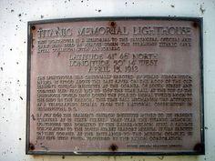 Titanic Memorial   Atlas Obscura