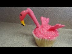 Decorating Cupcakes #44 Pink Flamingos
