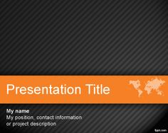 Worldmap PowerPoint Template is a free orange with dark background for effective PowerPoint presentations that you can use for international business presentations and also in any other work presentation including job hunters as well as business operations for international firms like global businesses #powerpoint #templates #dark