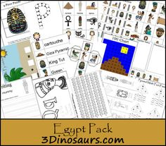 Free Egypt Pack for ages 2 to 8 from 3Dinosaurs.com
