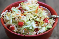 Sweet and Tangy Cole Slaw - This sweet and slightly tangy cole slaw is always a BIG hit at barbecues. 3 Weight Watchers pp