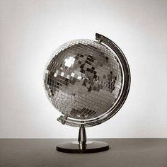 For @Carol Stewart #globe #mirror #mirrorball