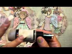 Prima Doll Stamp Tags w/angel wings - YouTube