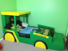 john deere tractor bed | john deere bed, weekend little project for little man turning 2 , Boys ...