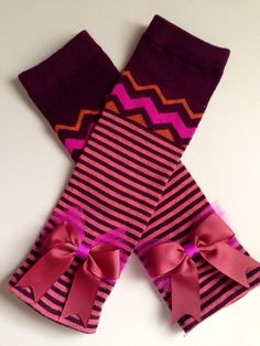 CHEVRON FALL Leg Warmers // Baby leg warmers girl by FrillyBowPeep, $7.00