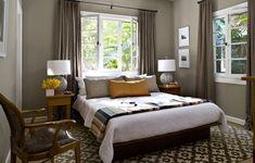 Greyish, brownish, greenish wall color. Designer Jeff Andrew's home.