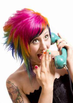 Rainbow Hair by Kristy