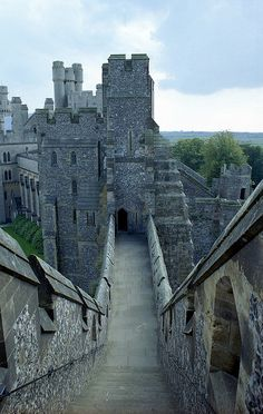 Arundel Castle, view from the motte.  West Sussex.