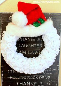 Felt Santa Wreath