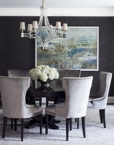 Greenwich Residence - Magazine Spread transitional dining room