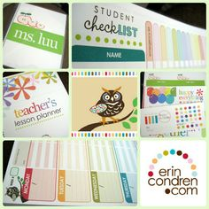Erin Condren personalized teacher plan books  ... olive juice ...