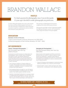 Resume style: Very simple but stylized