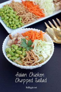 Asian chicken chopped salad - so easy so good   NoBiggie.net