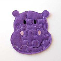 Hippo Felt Puzzle by AnnsCraftHouse.
