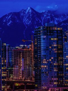 Downtown Vancouver at Night.
