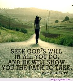 Seek God and He will show you the way.