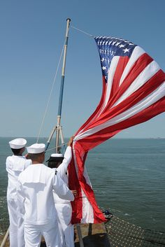 Sailors Perform Shift Colors by US Navy