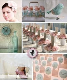 **TqahMisdar**: wedding idea: blush pink+tiffany blue color schemes, wedding decorations, pale pink, wedding colors, fall weddings, blue weddings, baby blues, parti, bridal showers