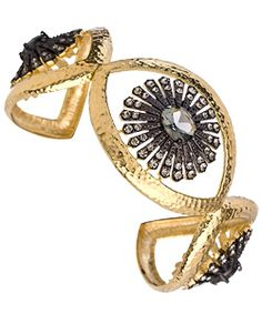 THIS ELECTRUM CUFF ONE TOO. The hammered gold and black stones are so beautiful. #jewelry, #cuff, #bracelet, #CourtneyKaye, #fashion, #gold, #maxandchloe, #accessories