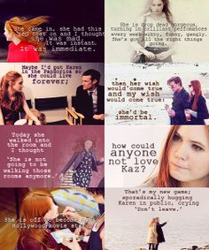 Matt Smith on Karen Gillan