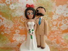 Customized Natty Boh and Utz Girl Wedding Cake Topper