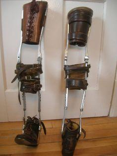 vintage leg braces