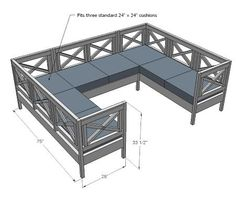 Outdoor furniture build...Would be perfect for the Neighbor, Neighbor Pergula!!!