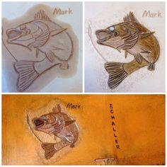 Mark's wallet as a work in progress.