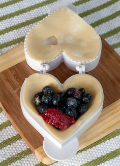 Berry Berry Mini Pies recipe   -  Pie mold from Williams Sonoma (love this!)
